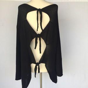 Zara Black open back sweater